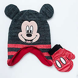 Disney® 2-Piece Mickey Mouse Hat and Mitten Set in Black