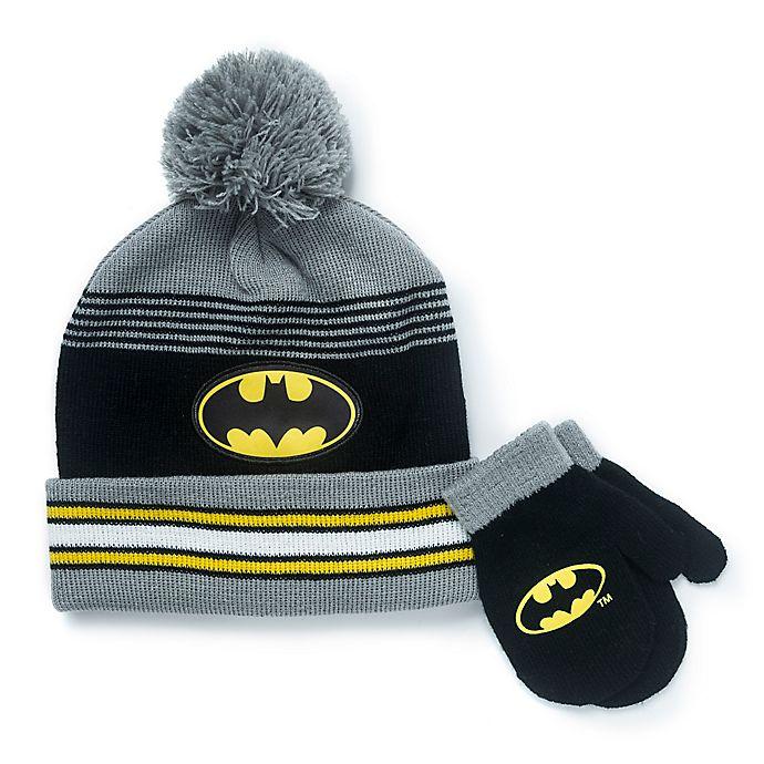 Alternate image 1 for Warner Bros.® 2-Piece Batman Hat and Mitten Set in Black
