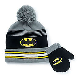 Warner Bros.® 2-Piece Batman Hat and Mitten Set in Black