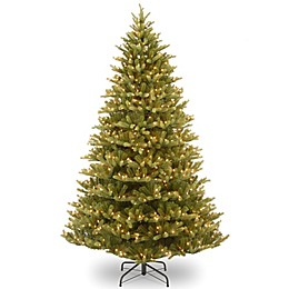 National Tree Company 7.5-Foot Normandy Fir Pre-Lit Christmas Tree with Clear Lights