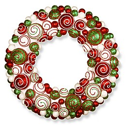 National Tree Company 20-Inch Wreath with Mixed Ornaments