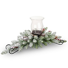 National Tree Dunhill Fir Glass Votive Centerpiece