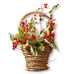 16-Inch Holiday Basket in Green