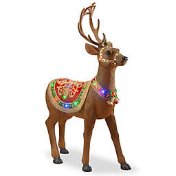 41-Inch Reindeer Decoration with Colored LED Lights