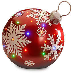 18-Inch Jeweled Ornament Decoration with Color LED Lights