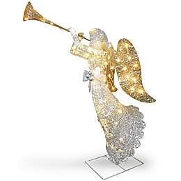 48-Inch Angel Decoration with Clear Lights