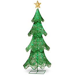 60-Inch Christmas Tree with LED Lights