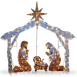 72-Inch Nativity Scene Decoration with Clear Lights