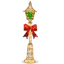National Tree Company Gold Wire Indoor/Outdoor Pre-Lit Lamp Post