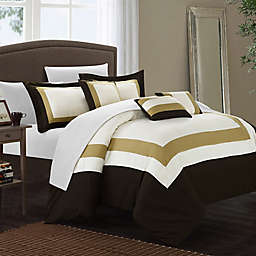 Chic Home Dylan 10-Piece Queen Comforter Set in Gold