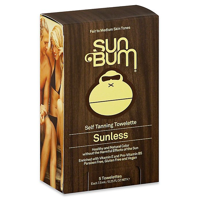 Alternate image 1 for Sun Bum® 5-Count Sunless Self Tanning Towelettes