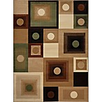 Tribeca 3'3 x 4'7 Accent Rug in Brown/Green