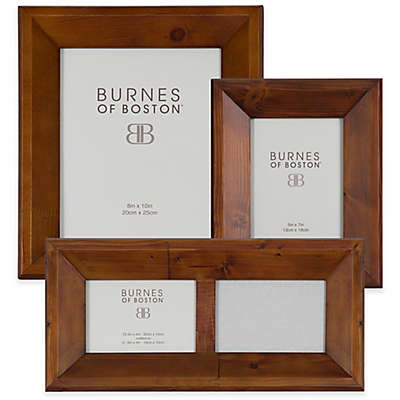 Burnes of Boston Angled Wood Picture Frame in Walnut