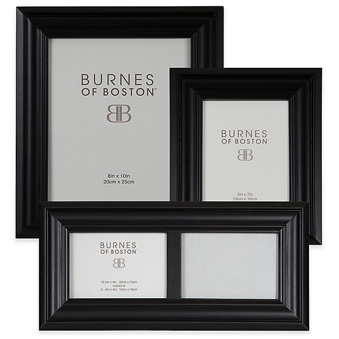 Burnes of Boston Wood Picture Frame in Black | Bed Bath & Beyond