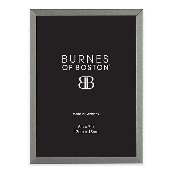Alternate image 1 for Burnes of Boston 5-Inch x 7-Inch Metal Picture Frame in Black Nickel
