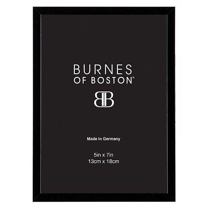 Alternate image 1 for Burnes of Boston 5-Inch x 7-Inch Metal Picture Frame in Black
