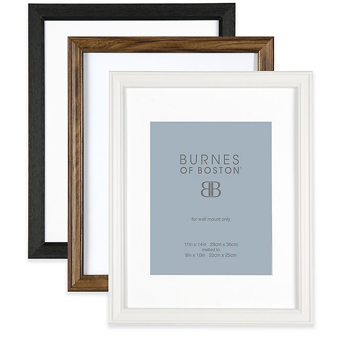 Burnes Of Boston 8 Inch X 10 Inch Matted Basic Picture Frame Bed