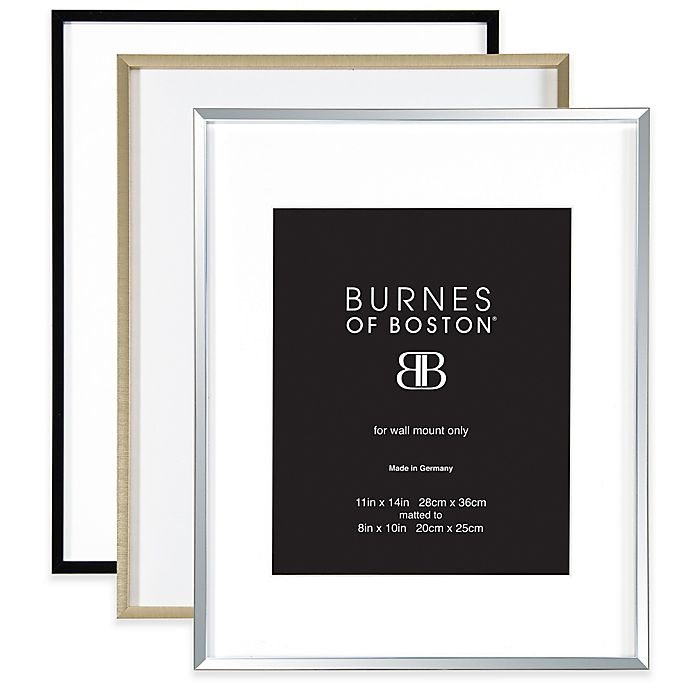 Burnes Of Boston 8 Inch X 10 Inch Metal Matted Picture Frame Bed