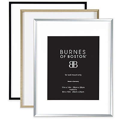 Burnes of Boston 8-Inch x 10-Inch Metal Matted Picture Frame