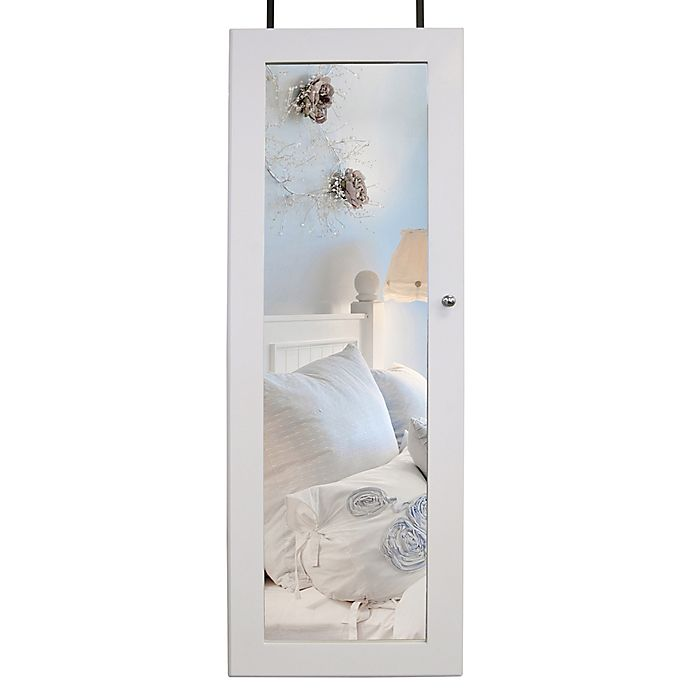 Alternate image 1 for Over-the-Door Jewelry Cabinet in White
