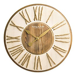 Sterling & Noble Wood and Rope Numbers Wall Clock