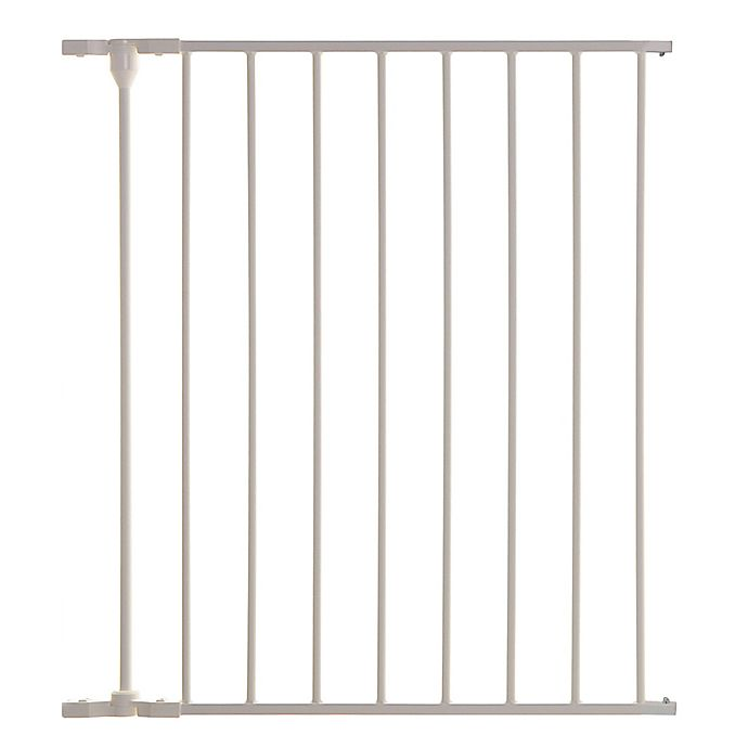 Alternate image 1 for Dreambaby® Mayfair/Newport Metal 1-Panel Extension in White