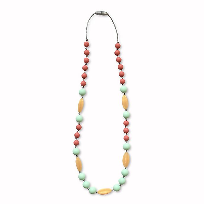 Alternate image 1 for Itzy Ritzy® Teething Happens™ Chewable Mom Jewelry Silicone Necklace in Willow