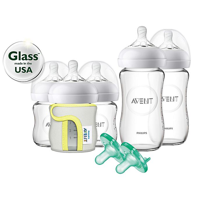 Alternate image 1 for Philips Avent Natural 5-Pack Glass Wide Neck Bottle Gift Set