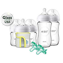 Philips Avent Natural 5-Pack Glass Wide Neck Bottle Gift Set