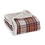 Eddie Bauer® Sherpa Flannel Throw Blanket in Red