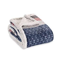 Eddie Bauer® Fairisle Collection Sherpa Throw Blanket in Midnight