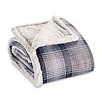 Eddie Bauer® Nordic Plaid Flannel Throw Blanket in Midnight