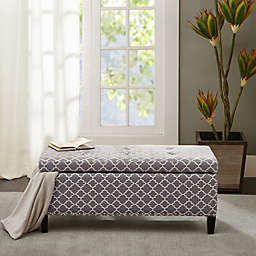 Madison Park Shandra ll Storage Bench in Grey