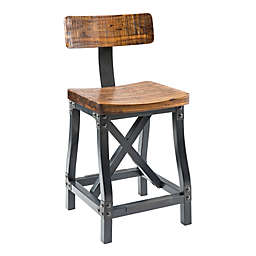 INK+IVY® Lancaster Counter Stool in Amber