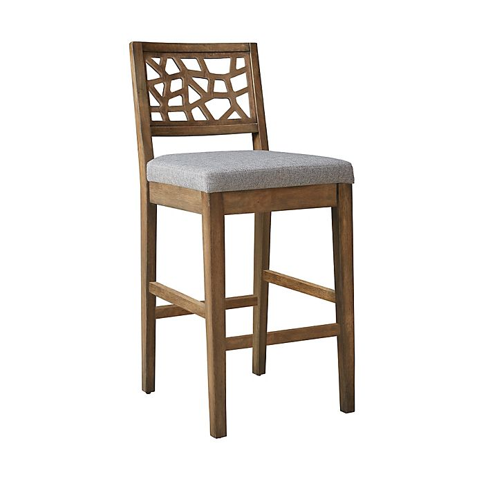 Ink Ivy 174 Crackle Stool Collection In Light Grey Bed Bath
