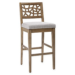 INK+IVY® Crackle Counter Stool in Light Grey