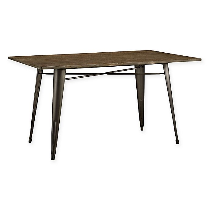 Alternate image 1 for Modway Alacrity Wood Dining Table in Brown