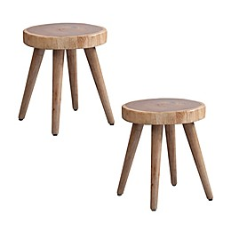 INK+IVY® Arcadia Wood Stools in Natural (Set of 2)