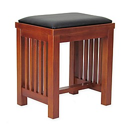 Wayborn Mission Style Stool in Brown