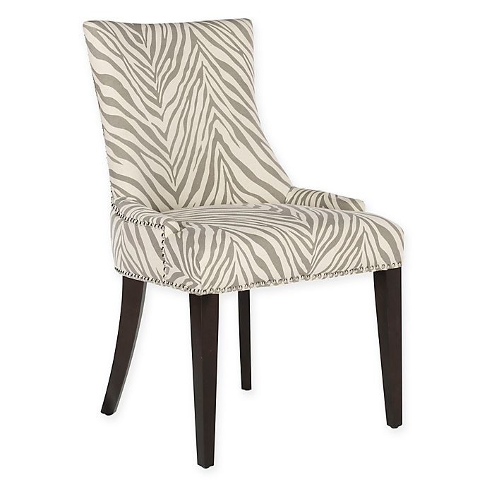 Tremendous Safavieh Becca Zebra Dining Chair In Grey Bed Bath Beyond Unemploymentrelief Wooden Chair Designs For Living Room Unemploymentrelieforg