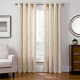 Sharper Image® Cassie 95-Inch Grommet Top Snap-In Window Curtain Panel in Ivory