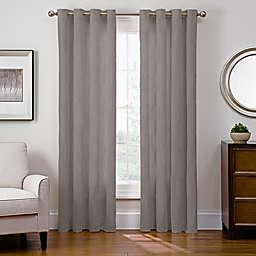 Sharper Image® Cassie 108-Inch Grommet Top Snap-In Window Curtain Panel in Grey