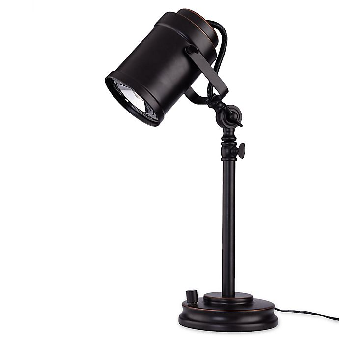 Alternate image 1 for LED Adjustable Desk Lamp with Studio Shade in Oil Rubbed Bronze