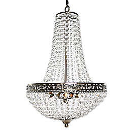 Poetic Wanderlust® by Tracy Porter® Cheyenne 3-Light Crystal and Metal Chandelier in Clear