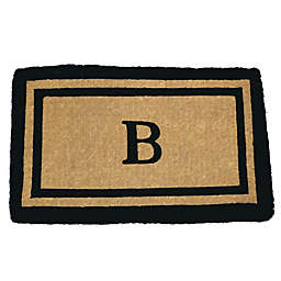 Nature by Geo Crafts Imperial 24-Inch x 39-Inch Double Border Door Mat in Natural/Black
