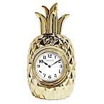 Sterling & Noble Pineapple Clock in Gold