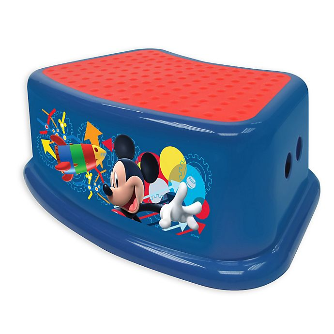 Alternate image 1 for Disney® Mickey Clubhouse Capers Step Stool in Blue