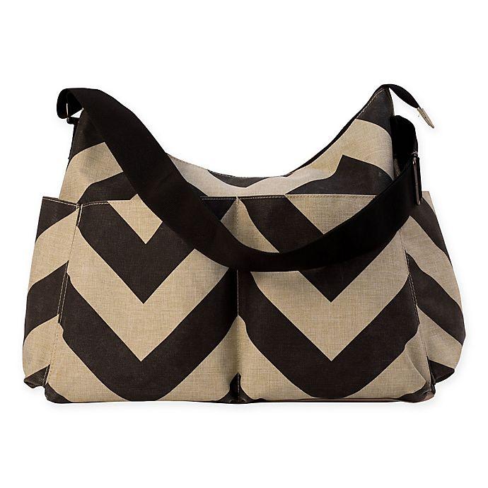 434c54656 RYCO™ Capri Diaper Bag in Black/Oatmeal | Bed Bath & Beyond
