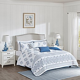 Harbor House™ Sanibel Coverlet Set in White/Indigo