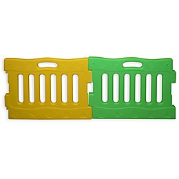 Baby Diego PlaySpot Playard Extension Panels in Green/Yellow (Set of 2)
